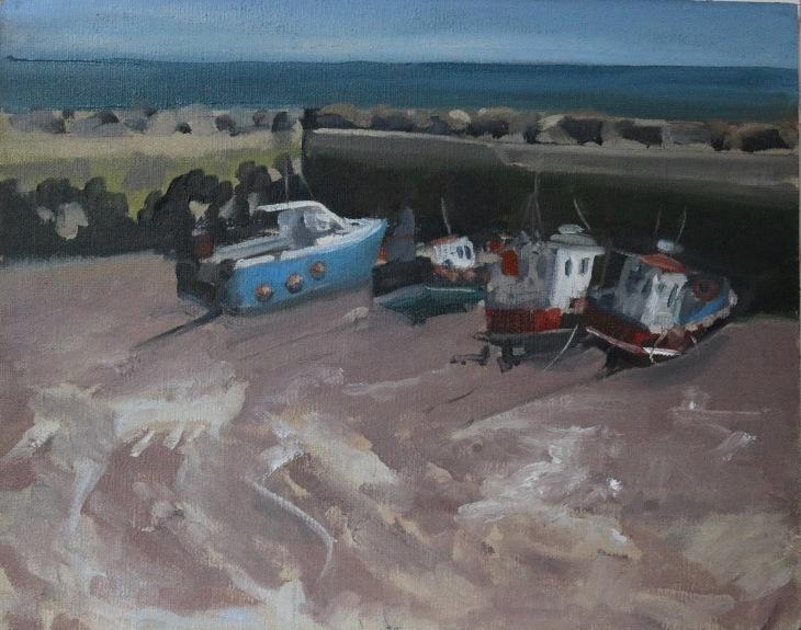 low tide at staithes harbour Susanna Heath